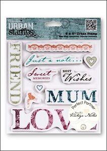 Papermaia Urban Stamp - Vintage Notes Sentiments BNIP