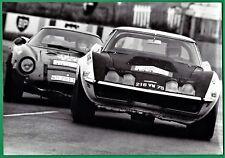 vintage photo Chevrolet Corvette Tour de France auto car race Ferrari LM 1969