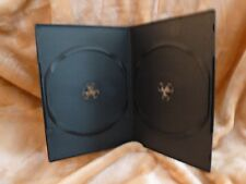 "7 mm 1/4"" DVD Movie Box New BLACK double case New holds 2 discs *5-pack*"