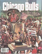 1991-92 Chicago Bulls Yearbook Jordan Pippen Championship