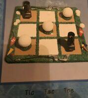 Cracker Barrel Tic Tac Toe Game Golf Theme Collectible