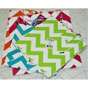 Chevron Gift Bag Assortment - Party Supplies 2 sizes 4 colors 12 Pieces