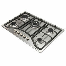 "New 30"" Stainless Steel 5 Burner Built-in Stoves NG Gas Hob Cooktops For kitchen"