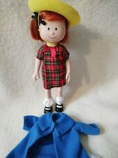 """Madeline Doll Fully Poseable by Eden 8"""" tall Classic Blue Coat Hat Euc"""