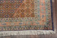 Geometric Blue/Pink Ardebil Area Rug Hand-Knotted Living Room Wool Carpet 5'x8'