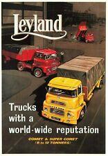 Truck Advertising Retro Poster Postcard, Leyland Comet & Super Comet MR7