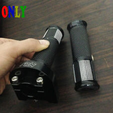 Motocross CNC Hand Grips + Dual Throttle GAS Tube Scooter Sport Street Pit Bikes