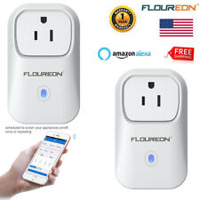 2x WiFi Smart Plug Remote Control Timer Switch Power Socket Outlet Alexa Voice