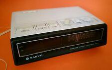Retro Sanyo Clock Radio Digital  Off white colour Computer Readout RM 5500