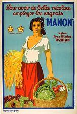 Original Vintage Poster Manon Viano 1925 France Farming Agriculture