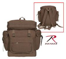 Rothco 2384 New Earth Brown European Style HW Canvas Rucksack Backpack Bag