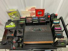 Atari 2600 4 Switch Wood Grain +cover 30 games controllers, books, manual Tapper