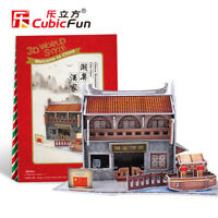 Chinese CY Restaurant 3D Puzzles Children Model Paper DIY Educational Toy