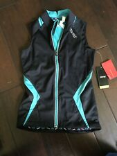 Zoot Women's Ultra WRKSnano THERMOcell Vest Sz Xs Black/Aqua New With Tags