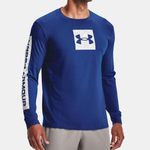 Under Armour Men's UA Camo Boxed Sportstyle Long Sleeve T Shirt. Tech Blue