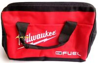 """New Milwaukee FUEL 13"""" x 10"""" x 9 Canvas Drill, Tool Bag/Case For M12 M18 18 Volt"""