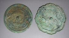 A Two Fine and Rare Korean Bronze Circular Mirrosr: 12th – 14th C.