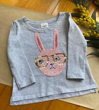 Seed grey long sleeve top with bunny, size 3, EUC