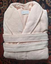 NEW $300. LUXURY FRETTE SHAWL COLLAR TURKISH Cotton Bathrobe ROSE Size M Unisex