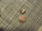 20#D    Vintage Cold War USSR Russian CCCP Pin Military Medal Soviet Union