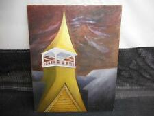 Old Vtg Genuine BENI KOSH COLLECTION OIL PAINTING on Canvas TOWER #458 Stamped