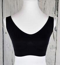 Shear Shapewear Women's Seamless Leisure Bra Full Coverage VNeck Black Pull-on S