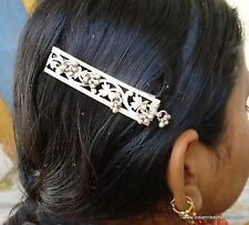 ANTIQUE TRIBAL OLD SILVER HAIRPIN CLIP HAIR ORNAMENT