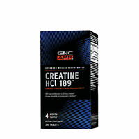 GNC AMP Creatine HCl 189, 240 Tablets, Increases Strength and Performance