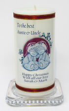 Auntie & Uncle Christmas present personalised Gift candle keepsake |Cellini 8