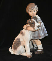 Dahl Jensen DJ Copenhagen Girl With Dog Figurine 1085 Mint Factory 1st