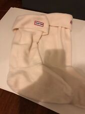 Hunter Welly Tall Boot Socks Cream Beige Off-White Fleece Apparel M 5-7