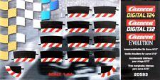 Carrera 132 / 124 20593 Innenrandstreifen Kurve 4/15°, 12 Stück