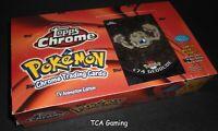 SEALED Topps Chrome Pokemon Booster Box - 30 Packs w/ 5 Cards each