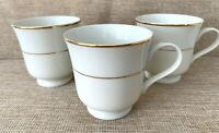 Vintage Set of 3 Coffee/Tea Cups Royal Limited Golden Ivory with Gold Trim Japan