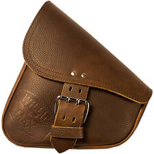 Willie & Max Brown Leather Swingarm Bag for 1984-2015 Harley Softail