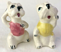 Puppy Dogs Scottie Handpainted Anthropomorphic Salt and Pepper Shakers Vintage