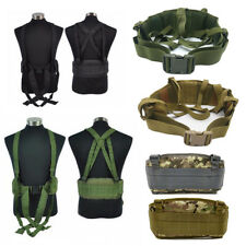 Tactical Removable Wide Waist Padded Belt Army Combat Battle Molle Belt