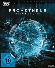 PROMETHEUS, Dunkle Zeichen (Blu-ray 3D + Blu-ray Disc + Bonus-Disc) NEU+OVP
