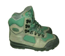 Vasque Clarion Impact Women's Size 7 Hiking Trail Boots Green & Gray Bump Toe