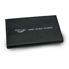 BLACK USB 2.0 EXTERNAL 2.5'' SATA HARD DISK DRIVE ENCLOSURE ALUMINIUM CASE CADDY