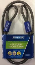 Schlage 999249 Flexible Steel Cable, 4-Foot by .375-Inch, Lock Not Included