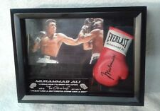DISPLAY CASE MINI BOXING GLOVE WITH MUHAMMAD ALI's AUTOGRAPH LIMITED EDITION