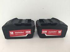 Metabo 625592000 18v 4Ah Li-Ion Batería-Nuevo Diseño (Twinpack)