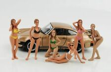 1:24 Figur Figuren Set 6 Stück Calendar Girls Bikini American Diorama no car