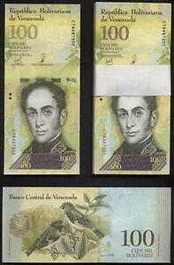 Originalbündel 100 notes: ORIGINAL BUNDLE VENEZUELA, 100000 Bolivar Fuerte 2017