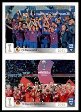 Panini FIFA 365 2016 - 2011: Barcelona - 2013: Bayern Munich  No. 25 - 26