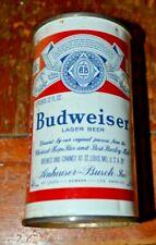 Budweiser 2 panel Flat Top Beer Can