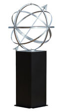 "26"" Sundial Armillary with Black Column Pedestal"