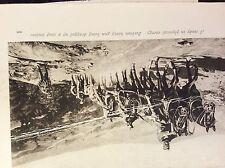 m17c6 ephemera ww1 picture serbia heavy artillery going uphill