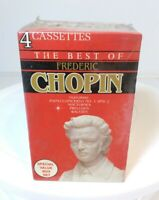 Best Frederic Chopin 4 Cassettes Piano Concerto Nocturnes Preludes Waltzes NEW
